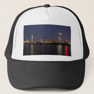 Boston Night Skyline Trucker Hat