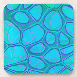 Boston Pattern Two Abstract Beverage Coasters