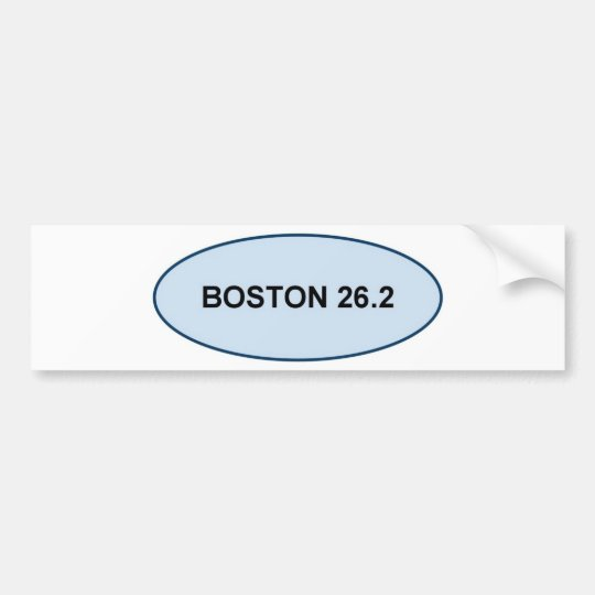 boston pride 26.2 products bumper sticker
