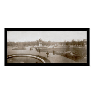 Boston Public Gardens Photo 1904 Poster