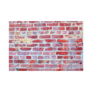 Boston Red Brick Wall Canvas Wrap Print