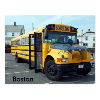 Boston School Bus Postcard