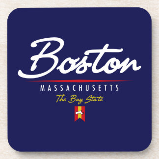 Boston Script Drink Coaster