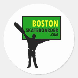 Boston Skateboarder Stickers