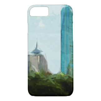 Boston Skyline Abstract Impressionism iPhone 7 Case