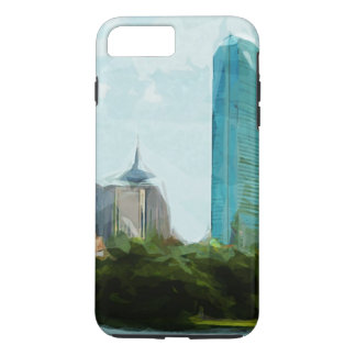 Boston Skyline Abstract Impressionism iPhone 7 Plus Case