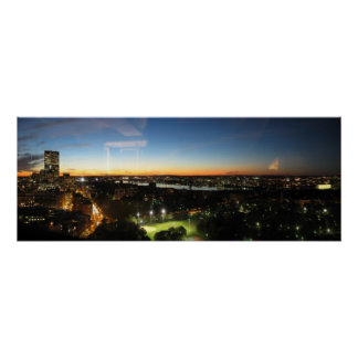 Boston Skyline at Sunset Poster