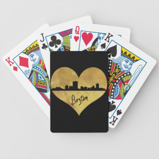 Boston Skyline Bicycle Playing Cards