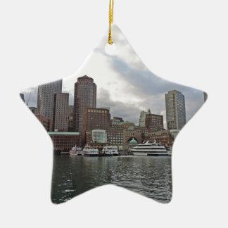 Boston Skyline Ceramic Star Ornament