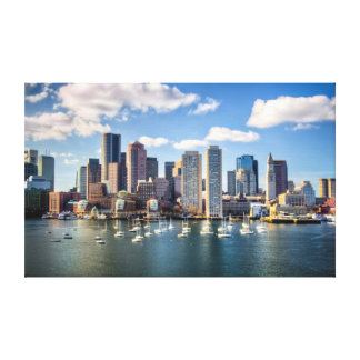 Boston skyline from waterfront canvas print
