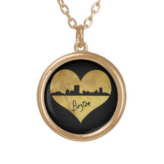 Boston Skyline Gold Plated Necklace