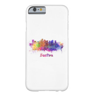 Boston skyline in watercolor barely there iPhone 6 case