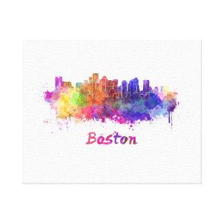 Boston skyline in watercolor canvas print