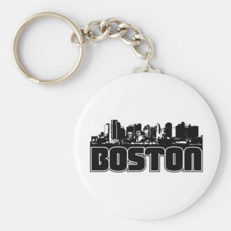 Boston Skyline Keychain