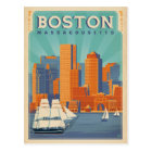 Boston Skyline & Sailboats | Massachusetts Postcard