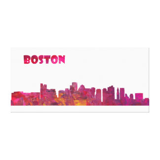 Boston Skyline Silhouette Canvas Print