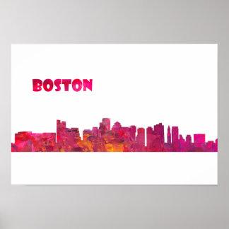 Boston Skyline Silhouette  Poster