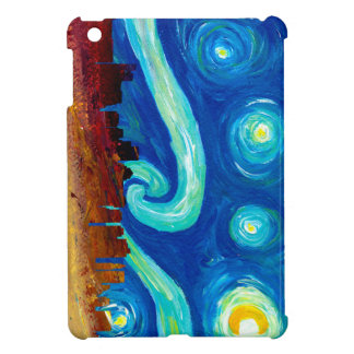 Boston Skyline Silhouette with Starry Night iPad Mini Cover