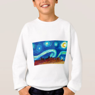 Boston Skyline Silhouette with Starry Night Sweatshirt
