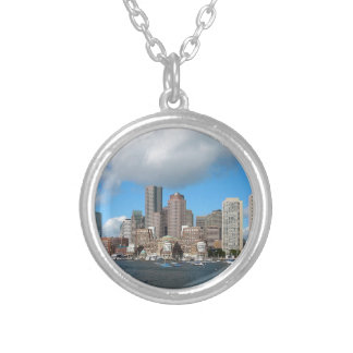 Boston Skyline Silver Plated Necklace