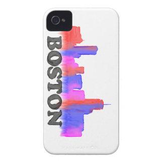 Boston Skyline watercolor iPhone 4 Case-Mate Case