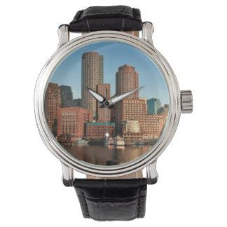 Boston skyline wristwatch