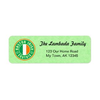 Boston Southie Irish American Address Labels