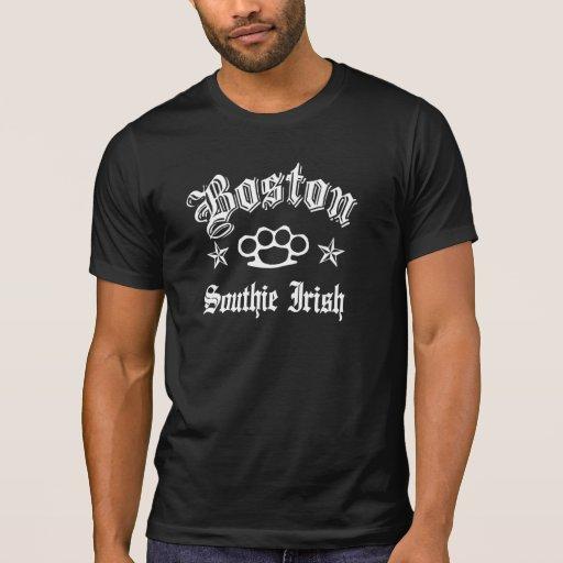 Boston Southie IRISH Knuckles Shirts