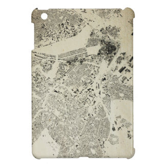Boston Streets and Buildings Map Antic Vintage Cover For The iPad Mini