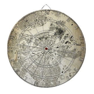 Boston Streets and Buildings Map Antic Vintage Dartboard