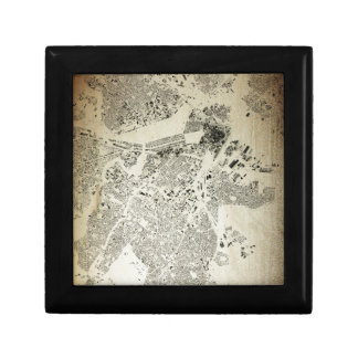 Boston Streets and Buildings Map Antic Vintage Gift Box