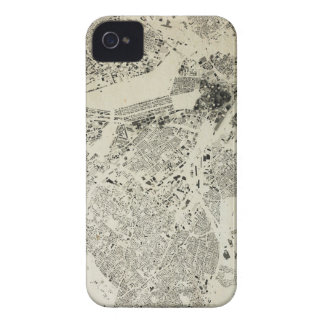 Boston Streets and Buildings Map Antic Vintage iPhone 4 Case-Mate Case