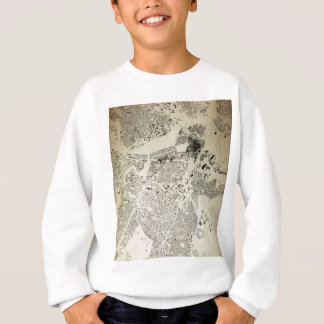 Boston Streets and Buildings Map Antic Vintage Sweatshirt