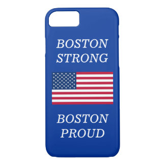 Boston Strong and Proud USA Patriotic Flag Blue iPhone 7 Case