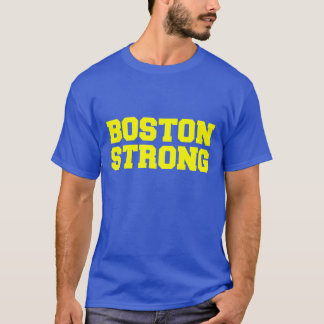 boston strong blue yellow t-shirt