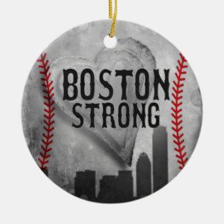 Boston Strong by Vetro Jewelry & Designs Round Ceramic Ornament
