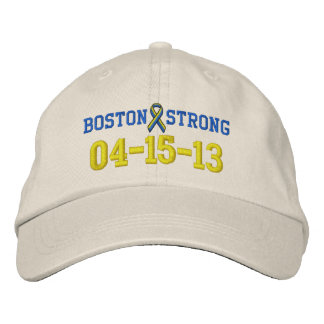 Boston Strong Ribbon 04-15-13 Embroidery Cap