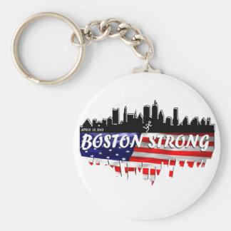 Boston Strong Run Basic Round Button Keychain