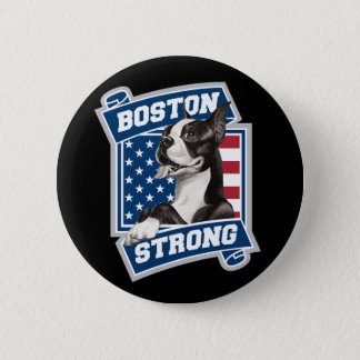 BOSTON STRONG TERRIER crest style 2 Inch Round Button