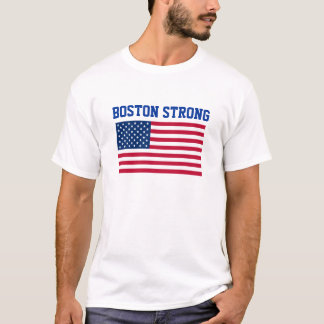 Boston Strong USA American Flag Patriotic City T-Shirt