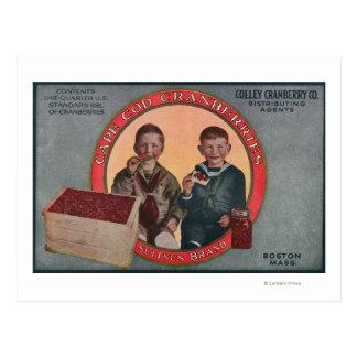 Boston Suitsus Brand Cranberry Label Postcard