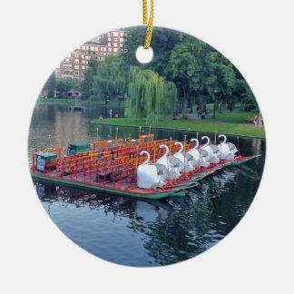 Boston Swan Boats Ceramic Ornament