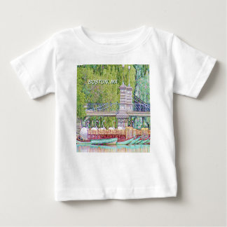 Boston Swan Boats in Pencil and Ink Filter Baby T-Shirt
