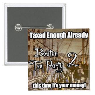 Boston Tea Party 2 2 Inch Square Button