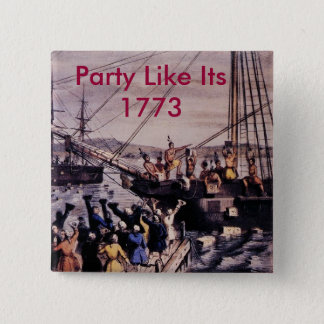 Boston_Tea_Party_Currier_colored, Party Like It... 2 Inch Square Button