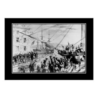 Boston Tea party December 16, 1773 Poster