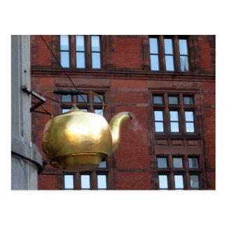 Boston Tea Pot Postcard
