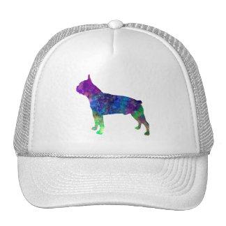 Boston Terrier 02 in watercolor Trucker Hat