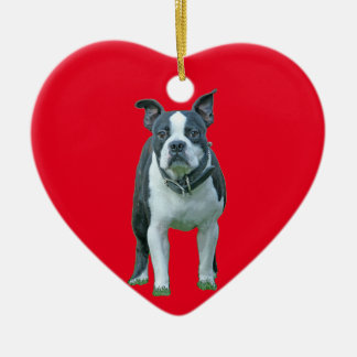 Boston terrier  1b ceramic ornament