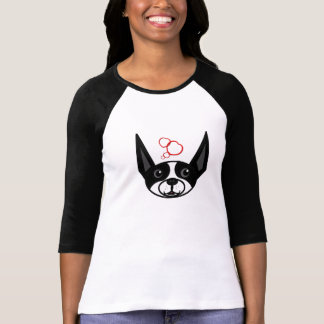Boston Terrier 3/4 Sleeve Raglan T-Shirt